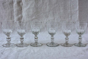 Six sherry / liquer glasses - 1900's