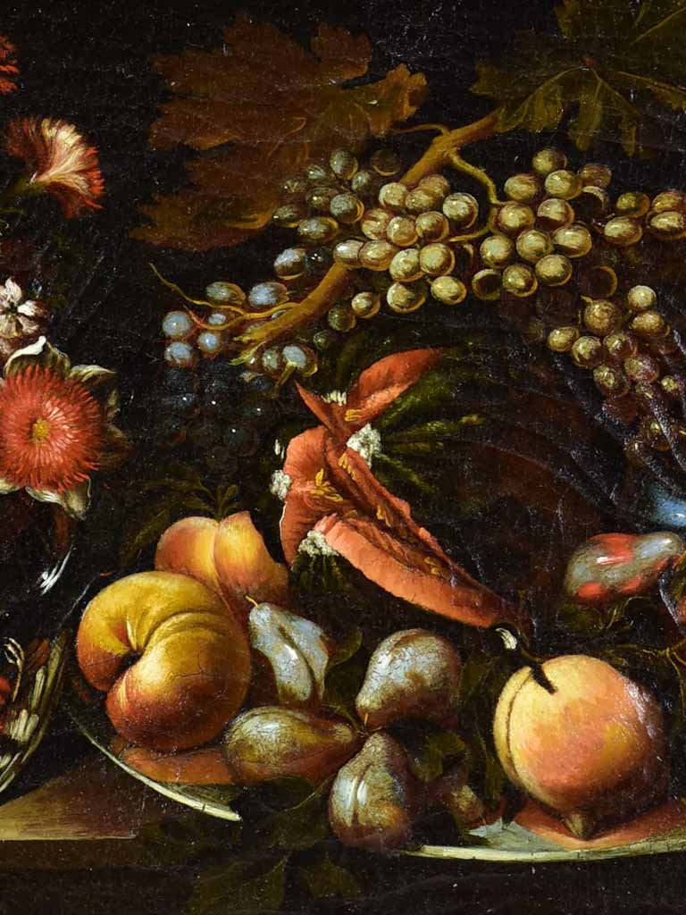 "18th Century French still life  late summer fruit - oil on canvas - anonymous 32¾"" x 25½"""
