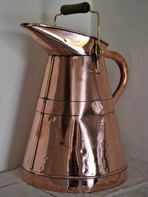 Antique French copper wine maker's pitcher
