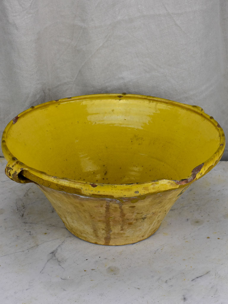 Late 19th Century French tian with yellow glaze