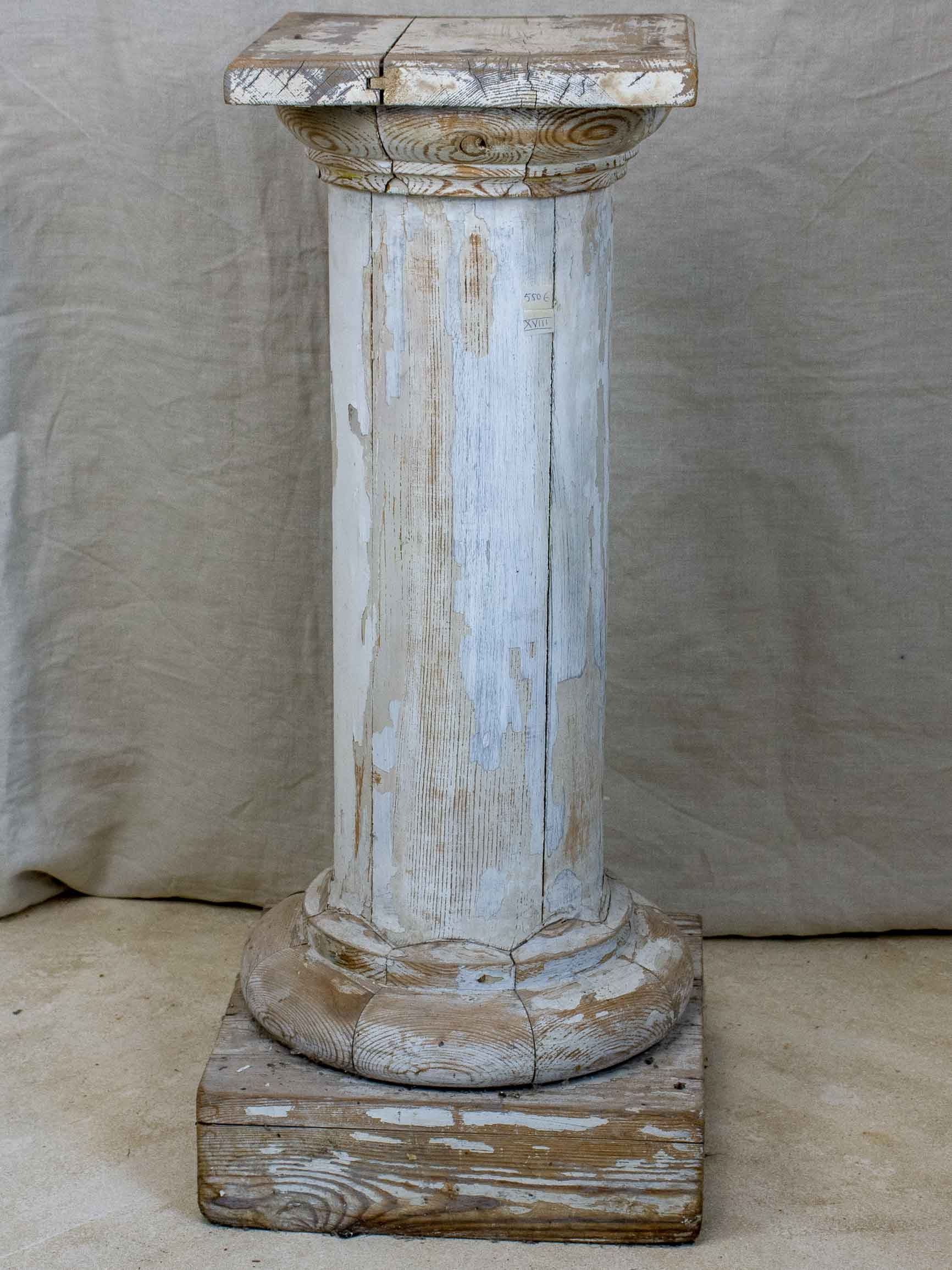 18th Century French wooden pedestal