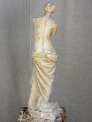 Figurative French plaster sculpture of a woman