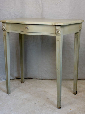 Small vintage French curved console with drawer