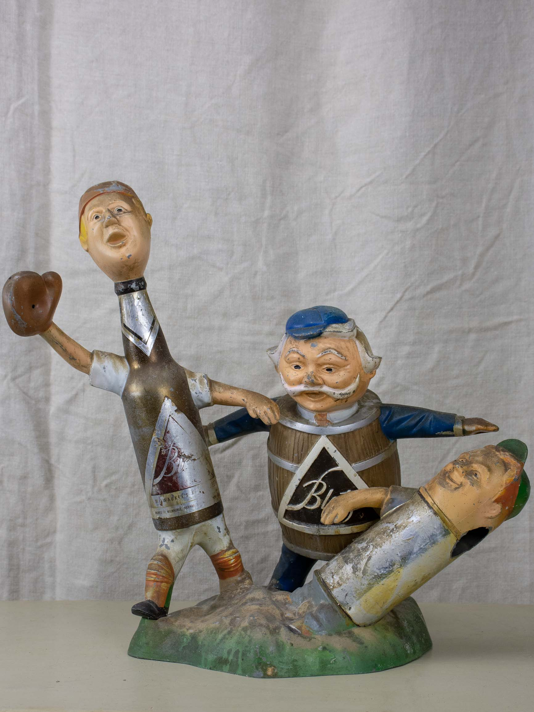 Antique American beer advertising sculpture