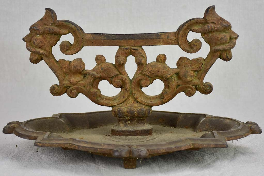19th Century cast iron shoe scraper
