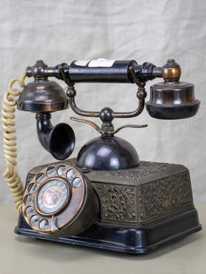 Antique Bakelite rotary telephone