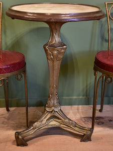 Alabaster bistro table attributed to Hector Guimard (1867-1942)