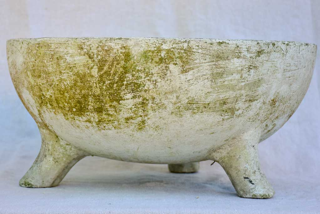 Mid Century French Willy Guhl cup shaped garden planter 18½""