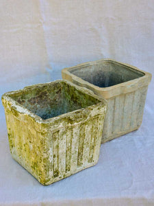 Two square Willy Guhl garden planters / flower pots