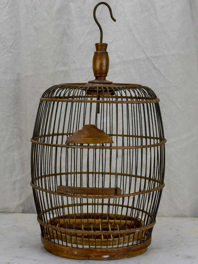Antique round birdcage