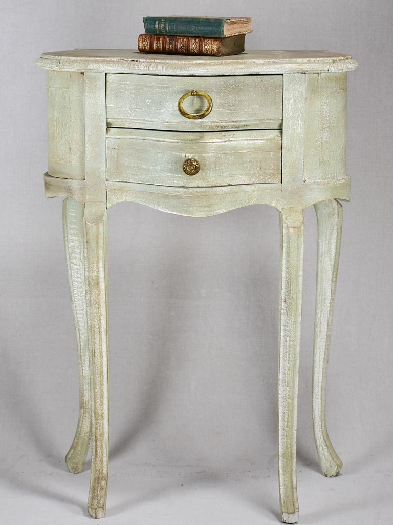 Louis XV style nightstand with gray patina