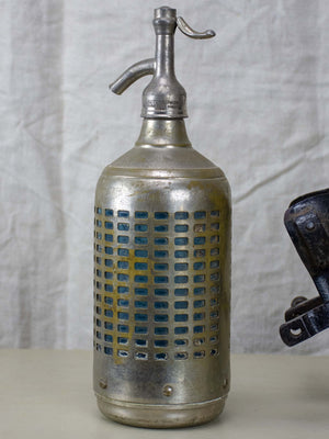 Original antique French seltzer cartridge  refill apparatus