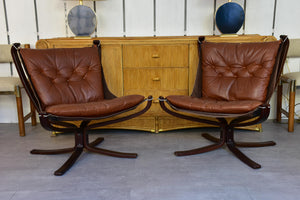 Pair of Norwegian Falcon chairs attributed to Sigurd Ressell