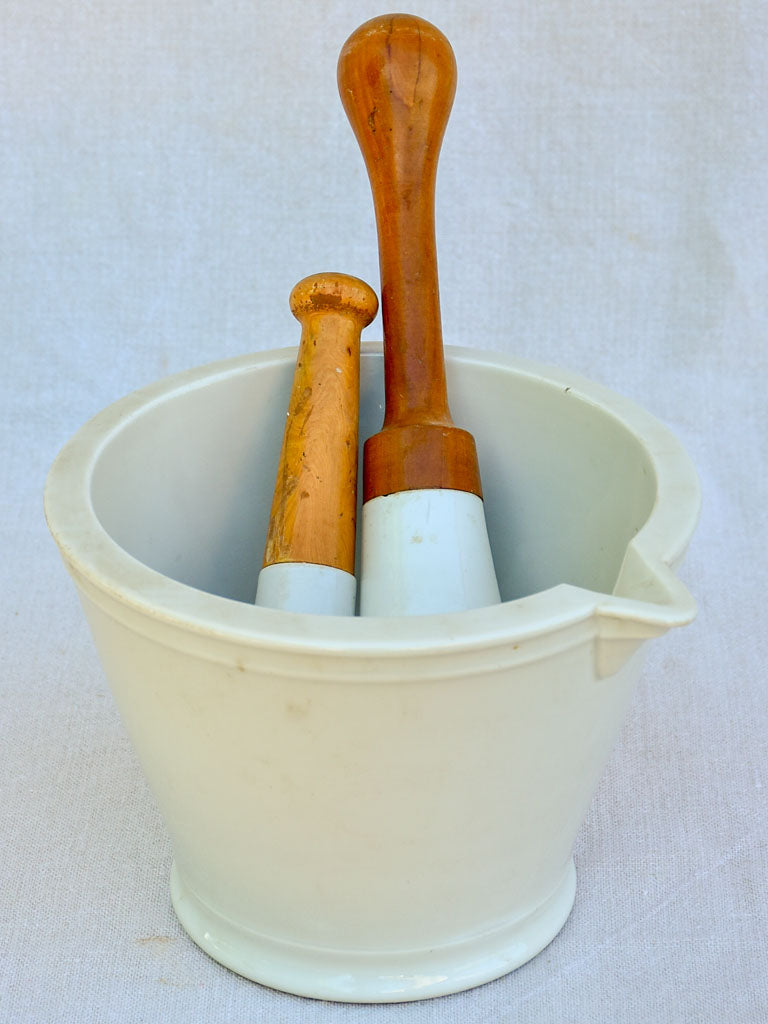 Early 20th Century French mortar with two pestles