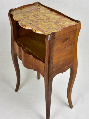 18th Century French nightstand with marble top from Aix-en-Provence