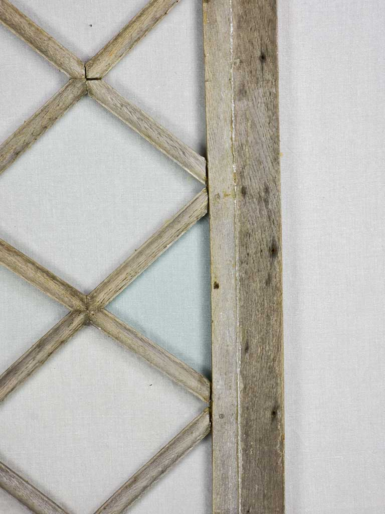 "Salvaged 18th Century Louis XVI window - diamond pattern 19"" x 41¾"""
