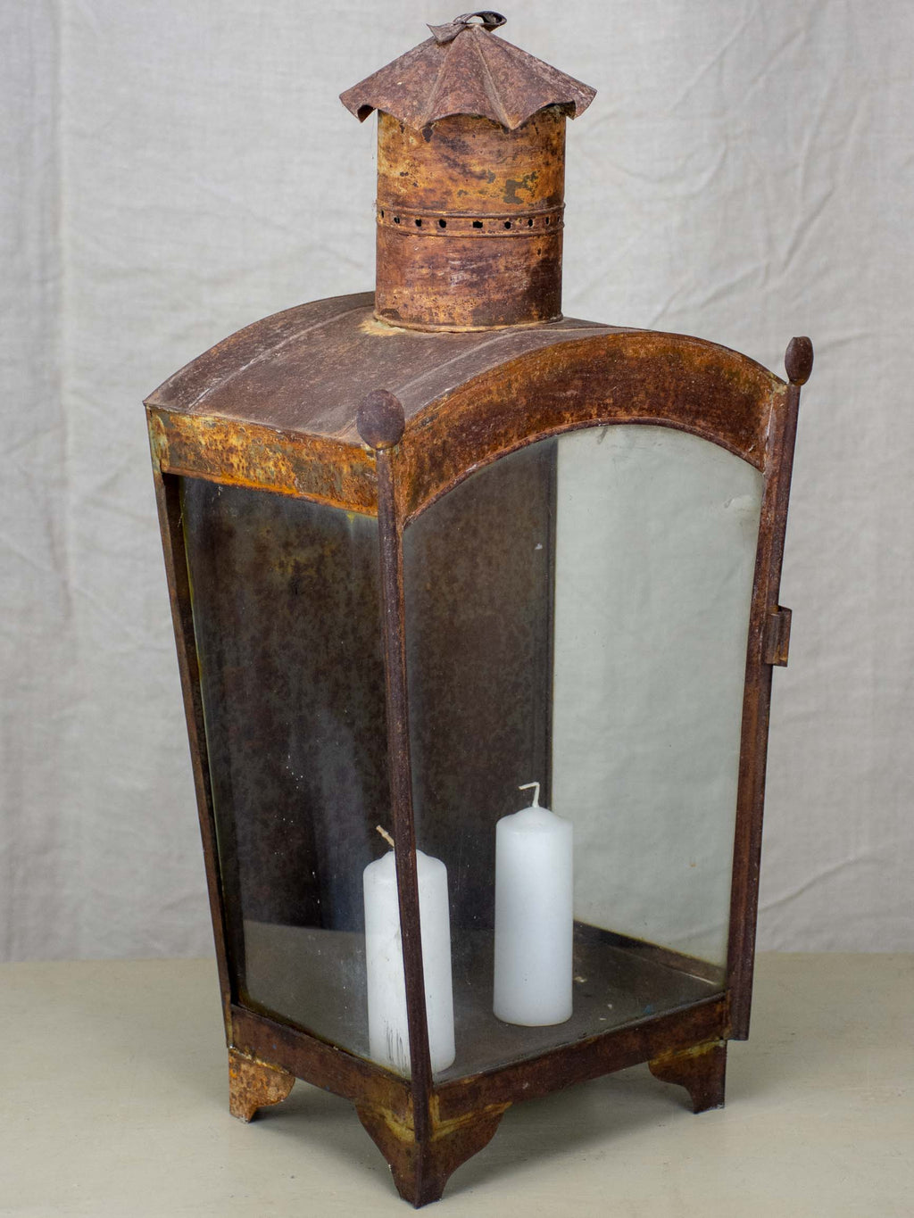 Large antique French wall lantern