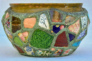 1920's pot plant holder - mosaic 12¼""