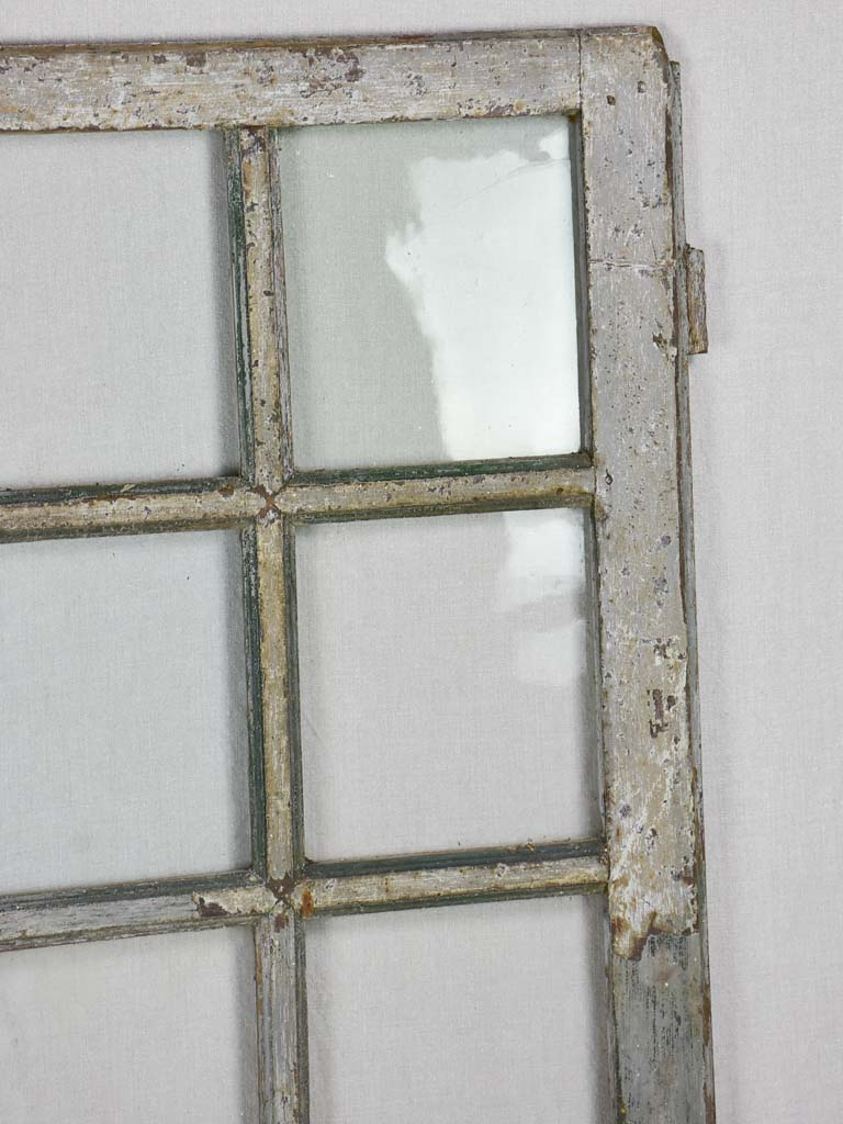 "Salvaged 18th Century Louis XVI window - 8 panes 23¾"" x 43¾"""