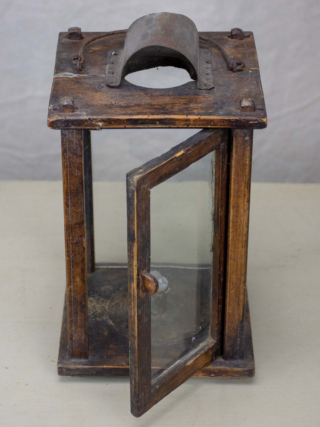 Antique French miner's lantern