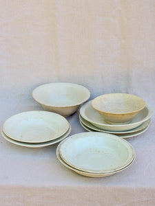 Collection of 9 stoneware bowls - 19th Century