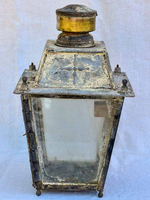 Rustic 19th Century French wall lantern 22""