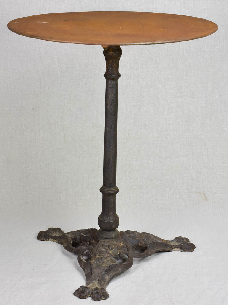 Napoleon III bistro table with claw feet