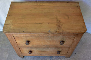 Rustic two drawer commode from a convent
