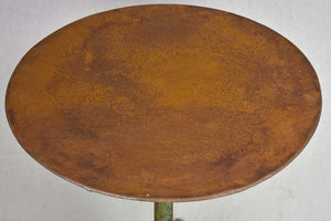 Napoleon III bistro table with claw feet & green patina