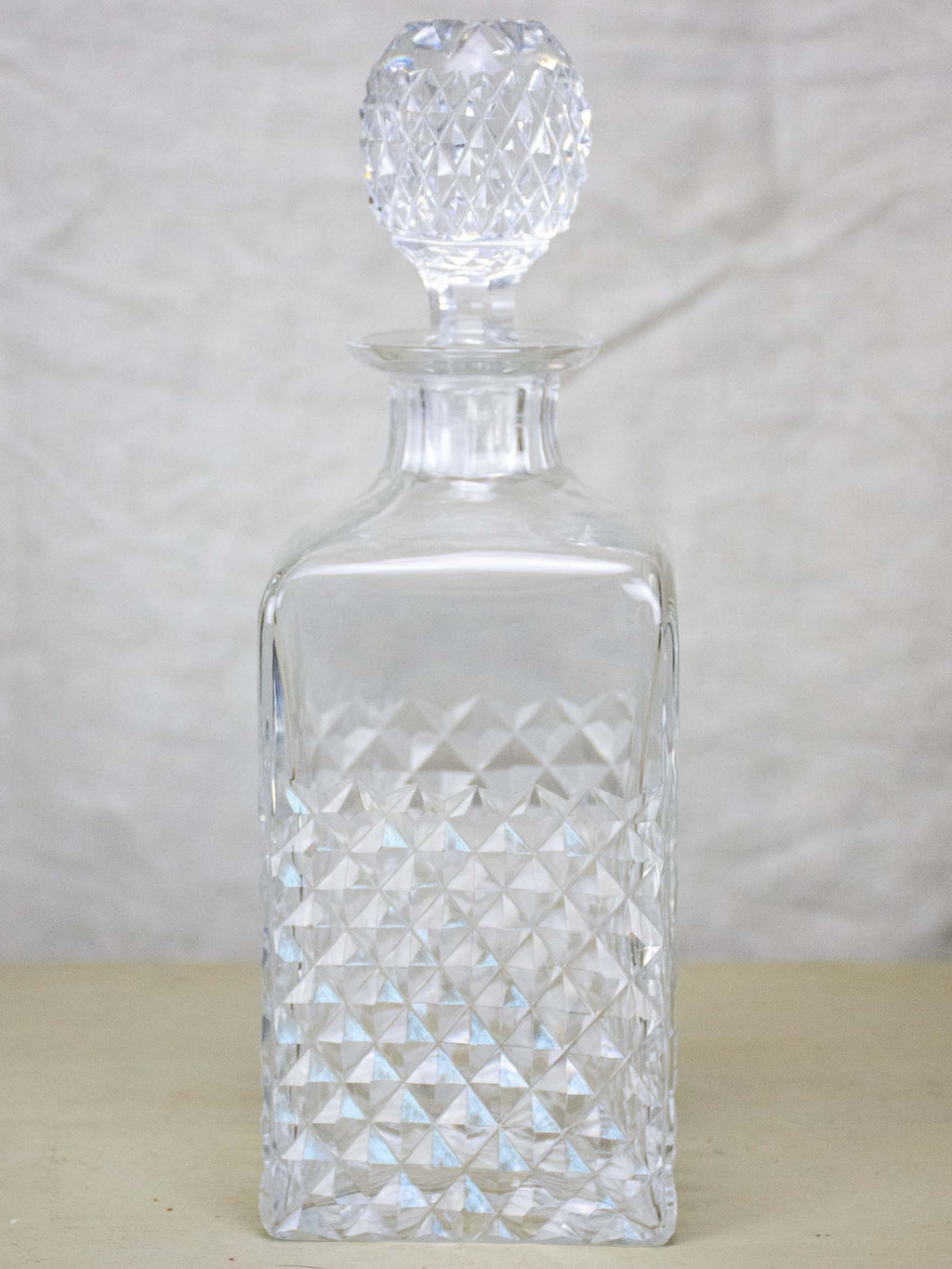 Antique French crystal whisky decanter
