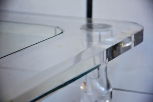 Perspex side tables and coffee table - Romeo Claude Dalle