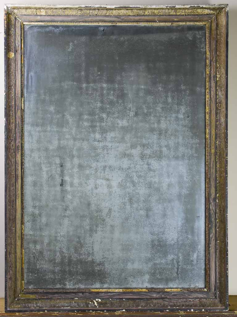 "Antique French Empire mirror with heavily aged glass 32"" x 43¾"""