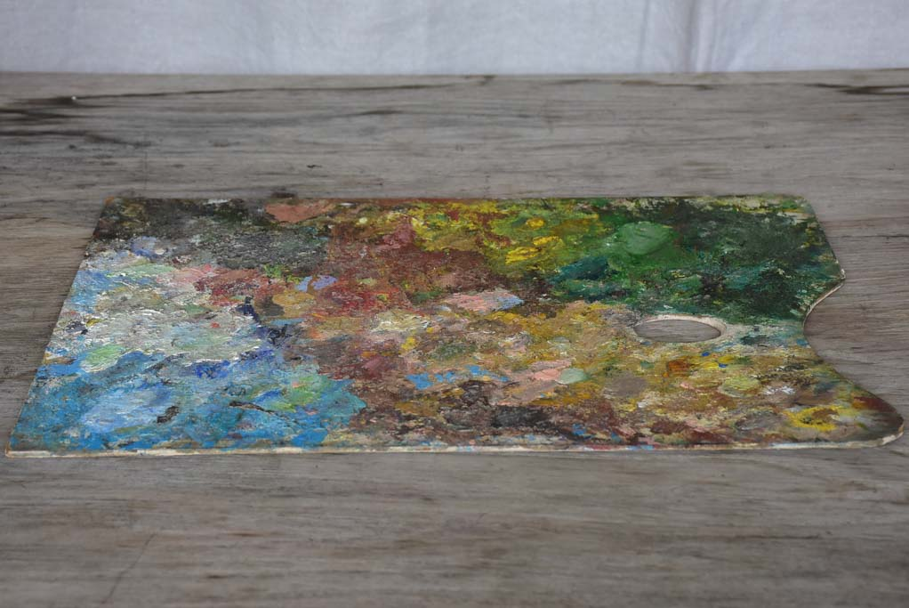 Vintage French artist's paint palette