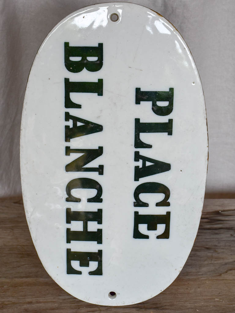 19th Century Parisian sign - Place Blanche