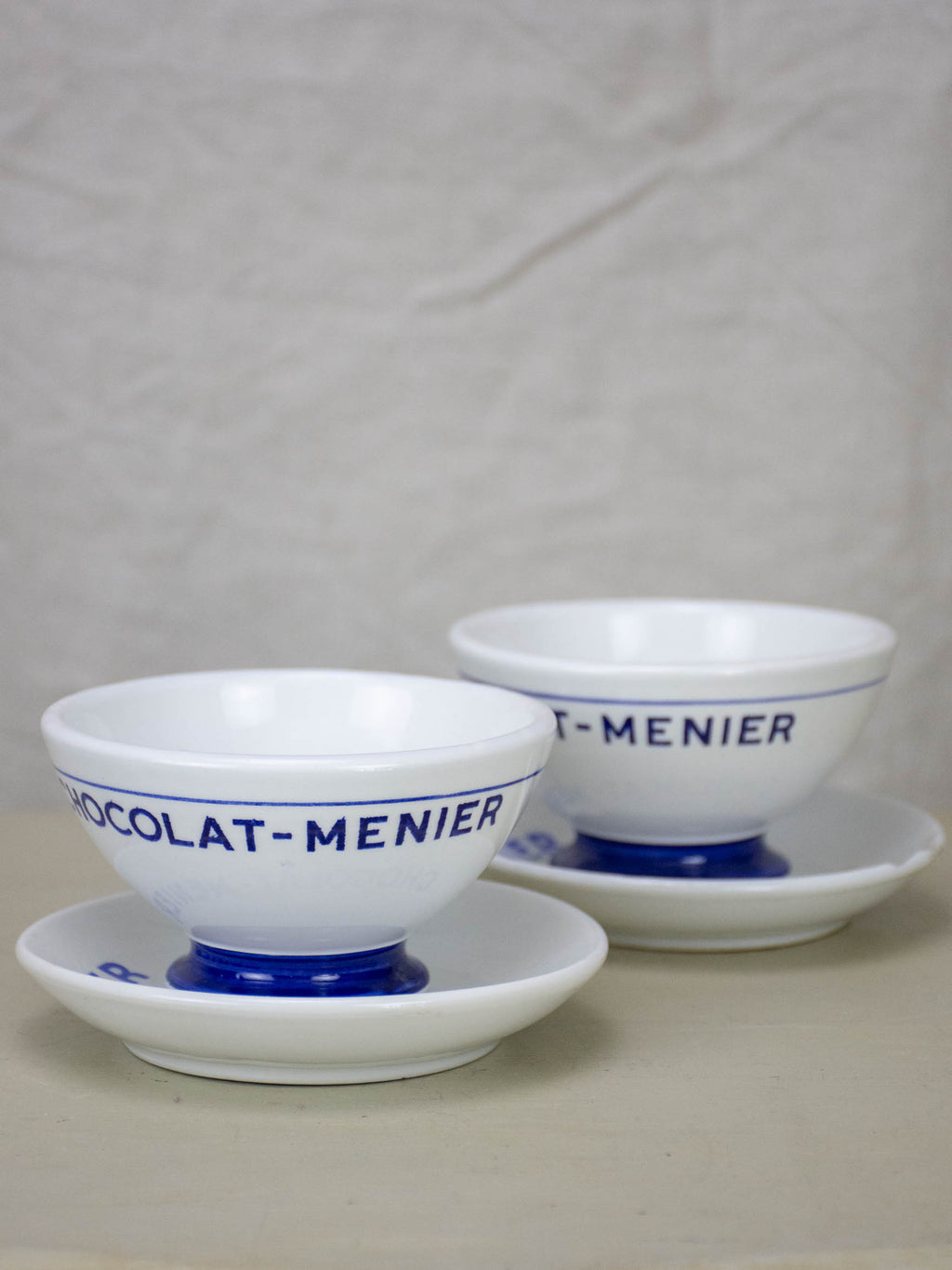 Chocolate Menier cups and saucers