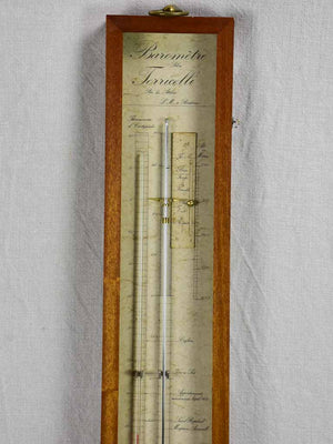 Early 20th Century French mercury barometer 39¾""