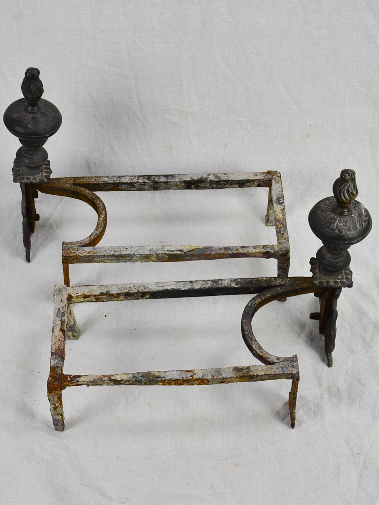 Pair of 17th Century French fireplace andirons