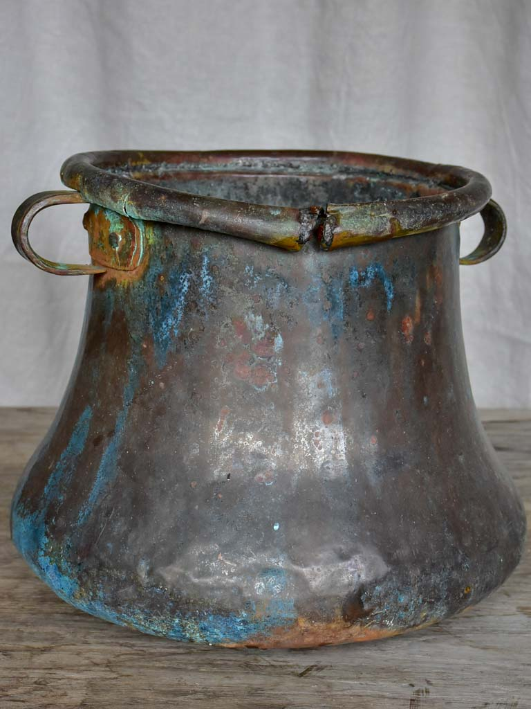 19th Century copper cauldron