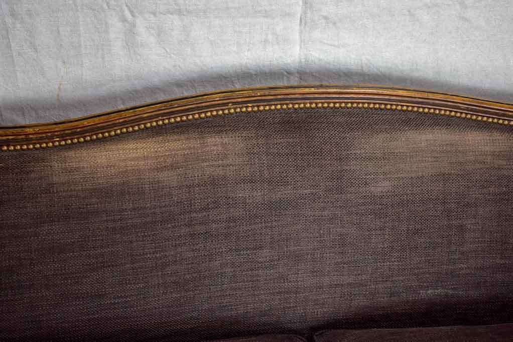 Deep antique French Louis XV sofa - two seat