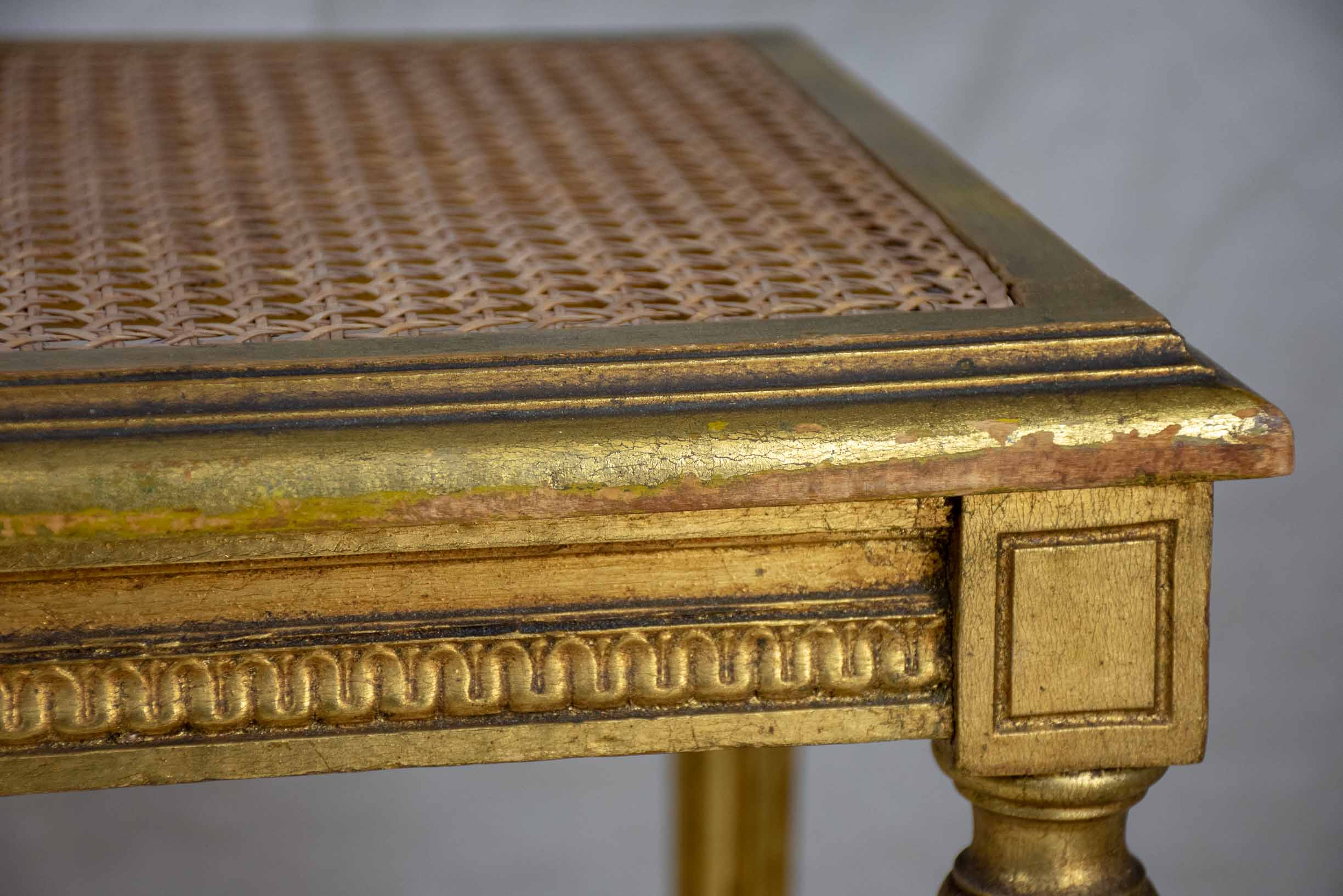Late 19th Century Louis XVI cane bench