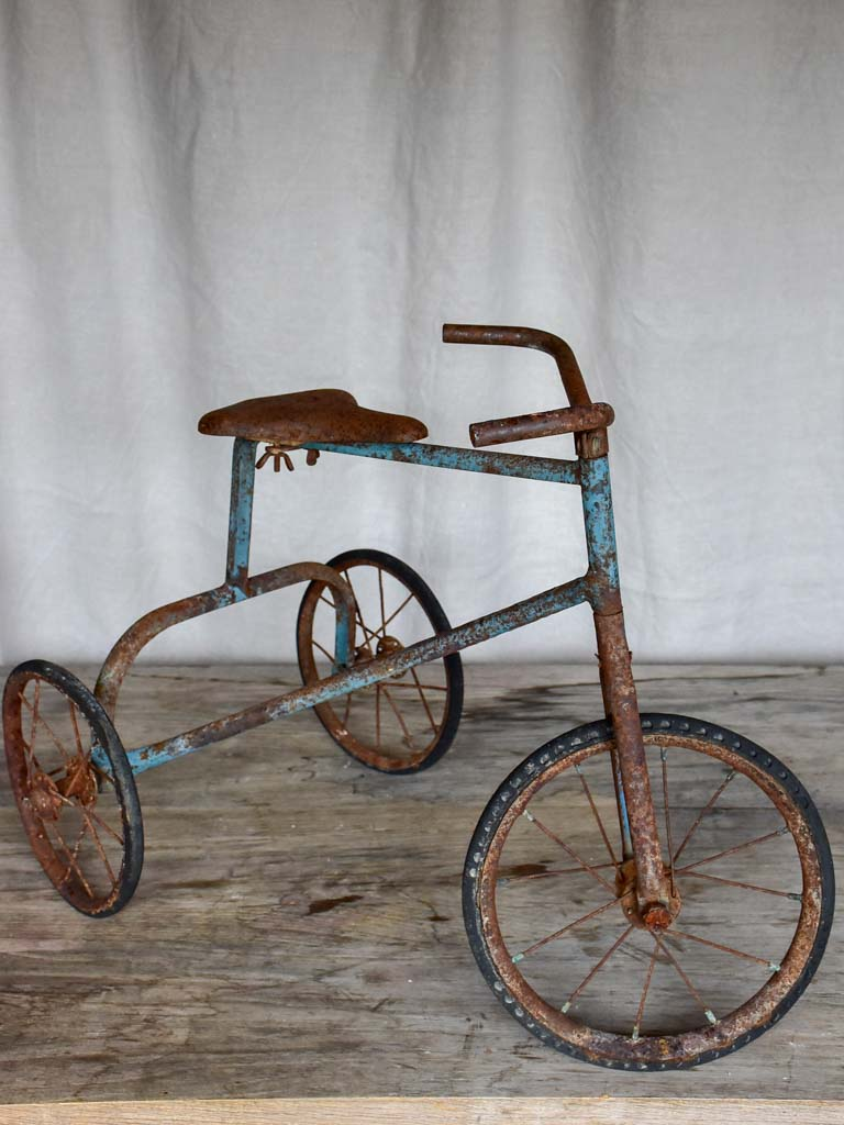 Antique French children's tricycle