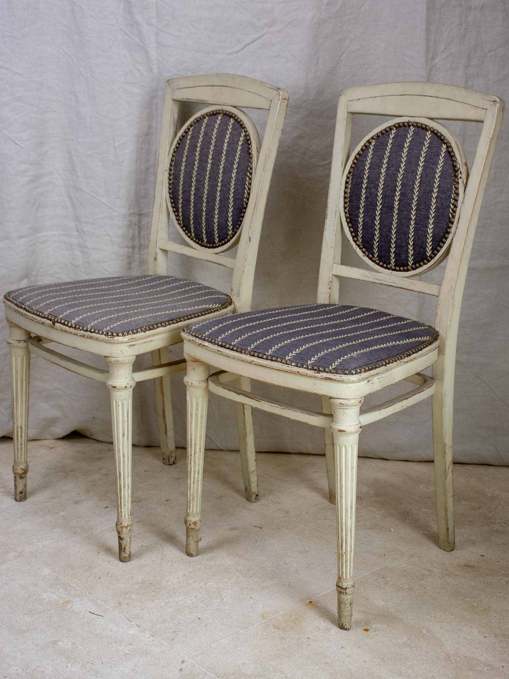 Pair of Directoire style chairs