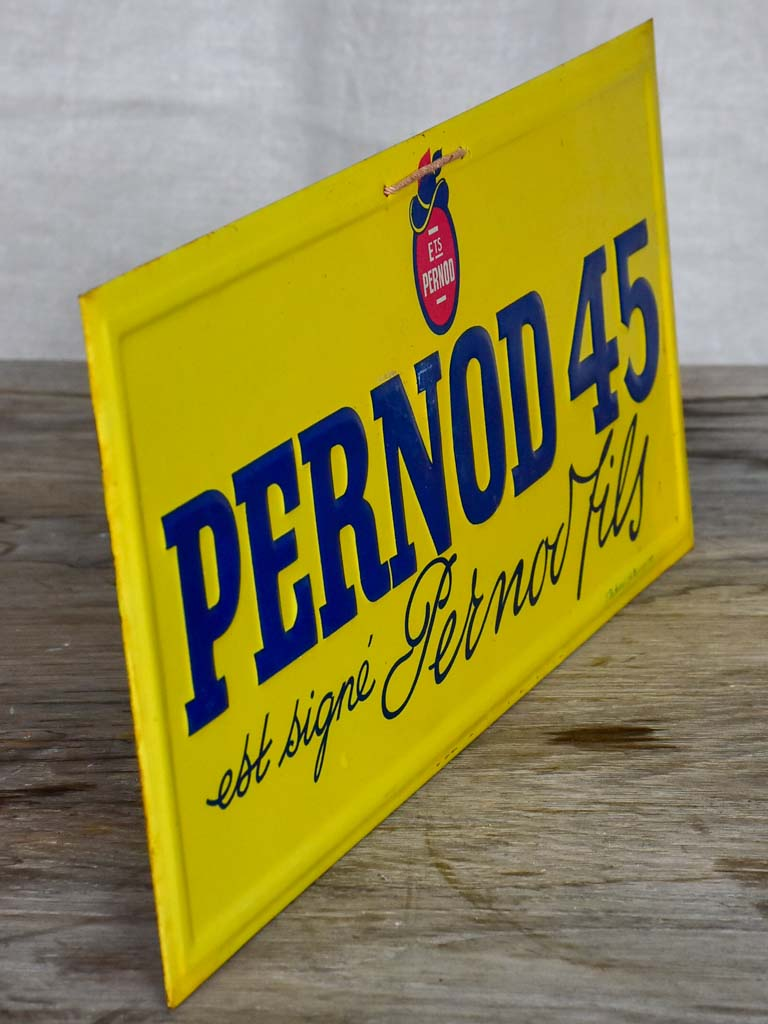 Vintage French enamel Pernod plaques