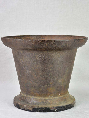 19th century French cast iron pharmacy mortar 11½""