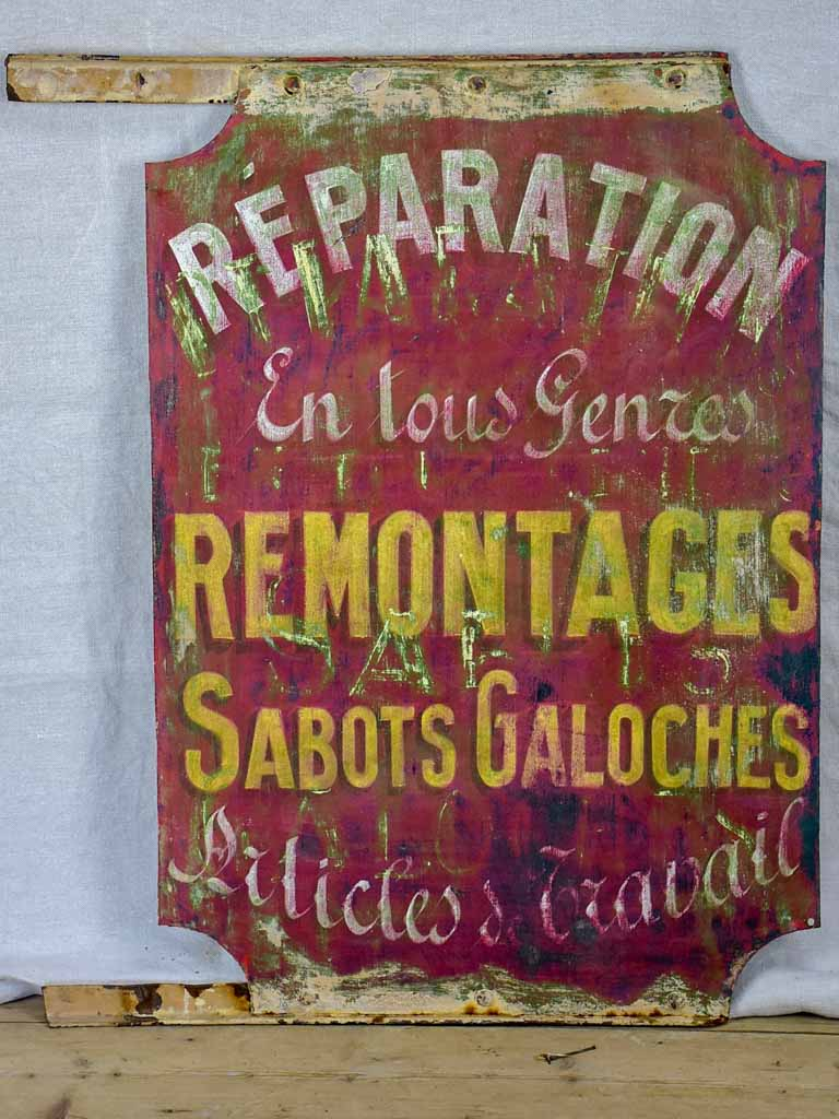 Antique French sign from a cobbler's shop 31""