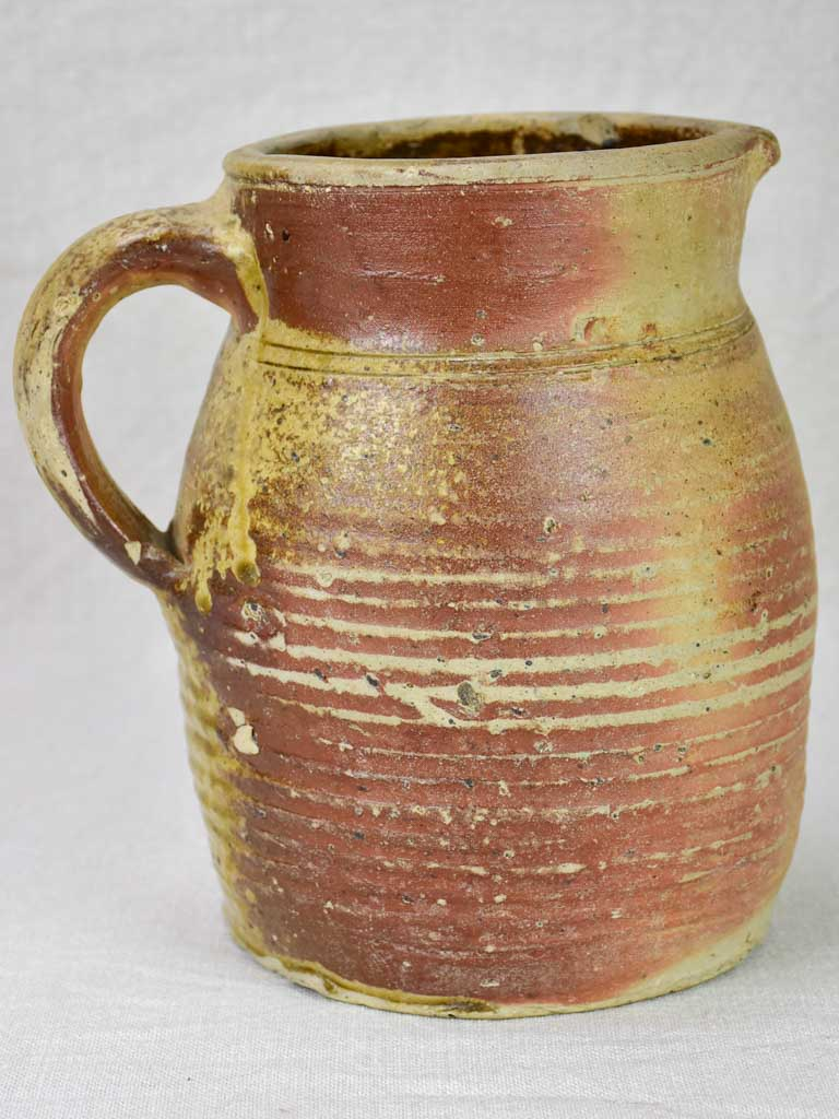 19th Century French sandstone cider pitcher from Normandy 7""