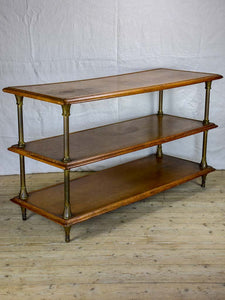 "Three tier French display table from a boutique - 1900s 58¼"" x 23¾"""