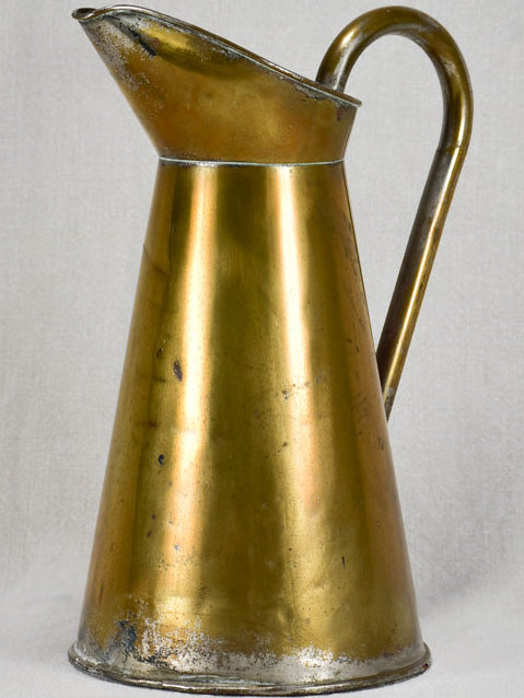 Late nineteenth-century brass pitcher