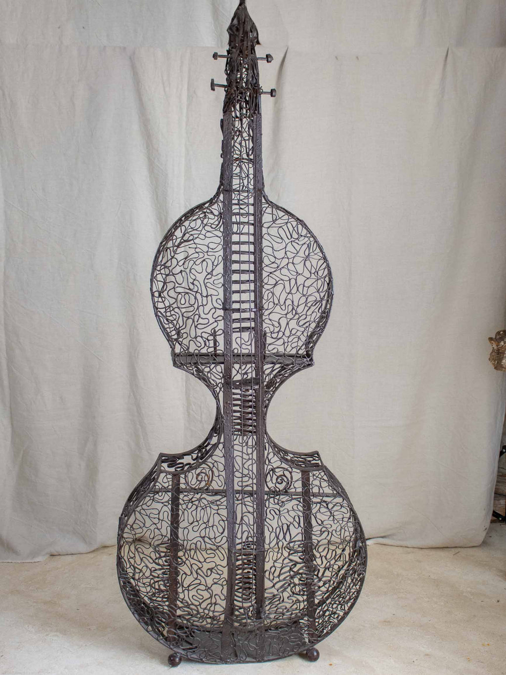 Vintage sculpture of a Double bass - Edith Taioni