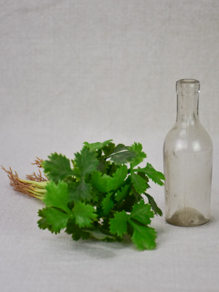 Miniature late 19th century blown glass bottle 4¾""